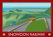 Welsh Travel Poster - Snowdon Railway